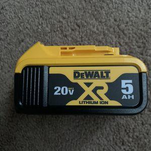 Brand new Dewalt XR 5Ah 20V battery for Sale in Philadelphia, PA