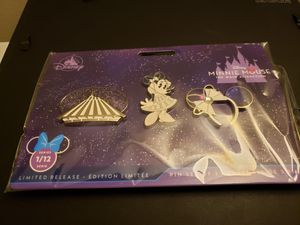 Disney Pin Trading Minnie Mouse The Main Attraction Space Mountain Pin Set for Sale in Anaheim, CA