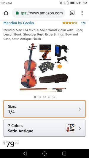 1/4 Mendini student violin for Sale in NO POTOMAC, MD