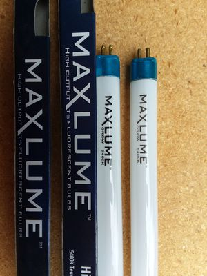 2 high output T5 fluorescent fixture bulbs 2 2' cool maxlume for Sale in Lynnwood, WA