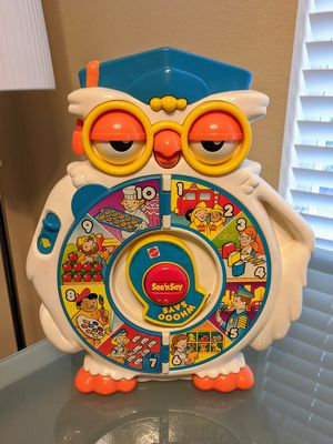 Perfect Mint Mattel 1996 Vintage Collectible See N Say Whooo Says Owl Educational Toy for Sale in Plano, TX