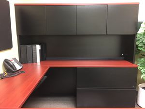 OFFICE DESKS WITH CREDENZA AND HUTCH for Sale in Davie, FL