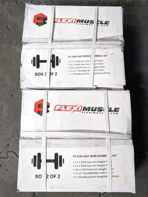 NEW - 135lb Adjustable Dumbbells Set for Sale in Tacoma, WA