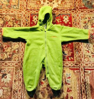 Cabela's Toddler Size 6 Months Fleece Lime Green Zip Hooded Bunting Outwear for Sale in San Antonio, TX