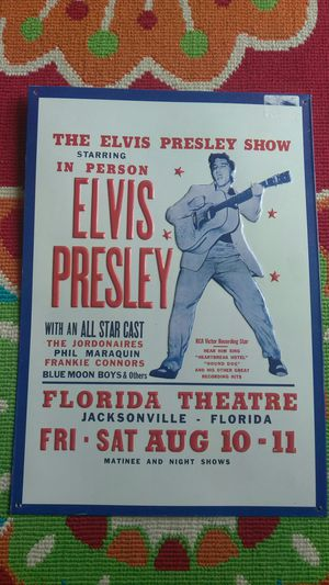 Rótulo o propaganda de ELVIS PRESLEY en un concierto en La Florida en el año 1956 for Sale in Rockville, MD