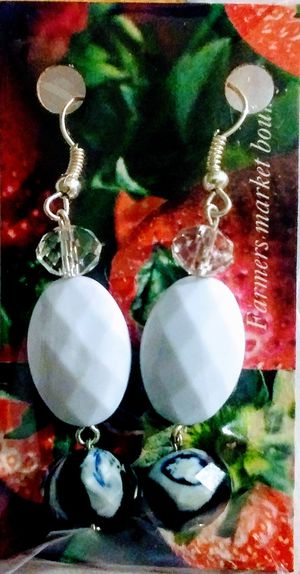 Handmade White Acrylic Earrings for Sale in Greenville, MS