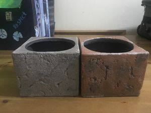 2 ceramic plant pots pick up only please 3260 Coney Island ave Cash only please for Sale in Brooklyn, NY