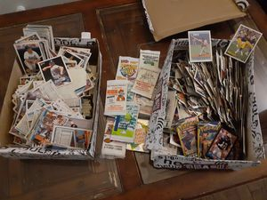 Sports cards unopened packs two shoeboxes for Sale in Austin, TX