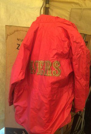 49ers rain coat xl for Sale in Concord, CA