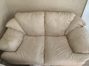 White leather couch for Sale in Union Park, FL