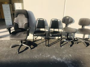 MOVING. 5 used office chairs for free. They are in the back of my building. 7052 Orangewood Ave Unit A 8. Garden grove for Sale in Cypress, CA