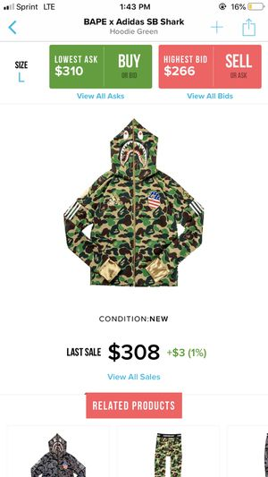bape adidas hoodie for Sale in Clinton Township, MI