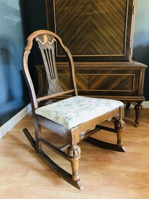 Very nice antique solid wood kids rocking chair for Sale in Spartanburg, SC