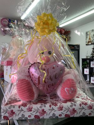 Pink Teddy Bear with Balloon for Sale in Las Vegas, NV
