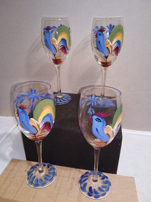 Hand painted wine Glasses for Sale in Greenbelt, MD