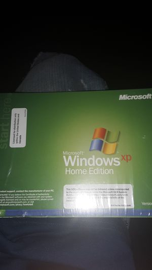 Microsoft windows xp home edition for Sale in Raymore, MO