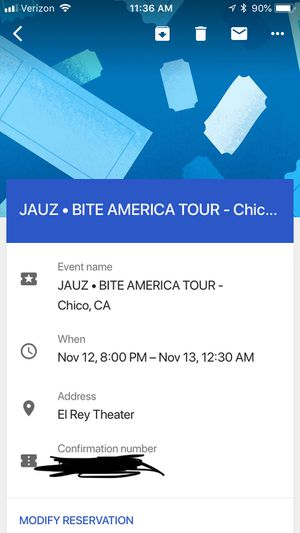 JAUZ TICKET for Sale in Chico, CA