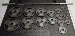 300 lb Olympic Weight Set with Barbell! BRAND NEW for Sale in West Springfield, MA