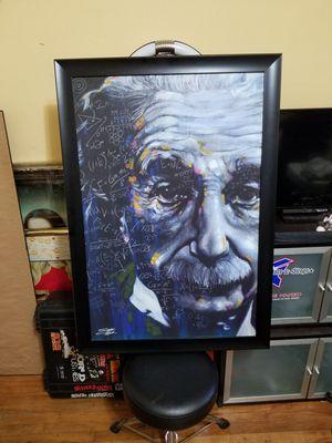 Albert Einstein Stephen Fishwick framed artwork for Sale in Long Beach, CA