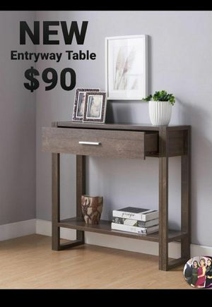 Walnut Oak 1-Drawer Console Table for Sale in Chino, CA