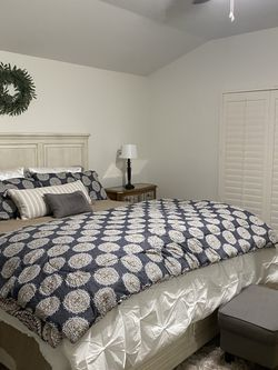 Bedroom Set Cal King With Storage, Dresser And Mirror Or Bed Only For $900. for Sale in Riverside,  CA