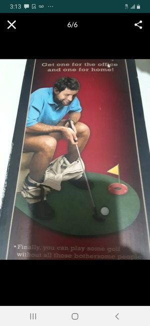 Potty Putter Toilet Golf Game $15.00 cash only (serious buyers) for Sale in Dallas, TX