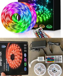 (New In Box) $25 DAYBETTER Led Strip Lights 32.8ft Flexible Tape 5050 RGB 300 Color Changing Kit (44 Key Remote) for Sale in Whittier,  CA