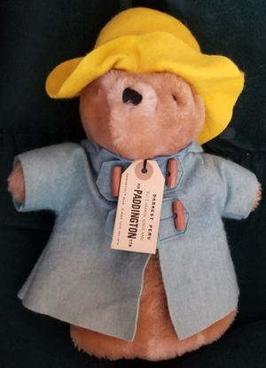 "Paddington Bear Plush Puppet 1975 Eden Toys Yellow Hat Blue Jacket 12"" Teddy for Sale in Spring Valley, CA"