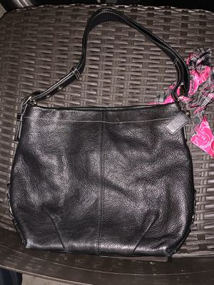 Black Coach Purse with Scarf for Sale in Frisco, TX