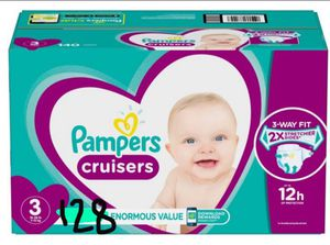 Pampers Cruisers size 3 128 count for Sale in Phoenix, AZ