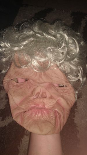 Old lady mask and hair for Sale in Phoenix, AZ