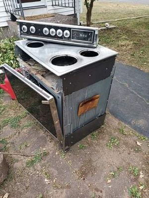 Scrap metal stove oven free for Sale in Portland, CT