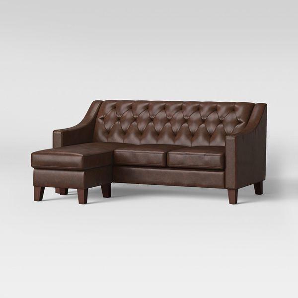Felton Reversible Chaise Sofa Threshold Faux Leather