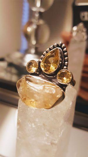Huge stylish 925-Brazilian-CITRINE-Quartz Ring size 7 3/4⭐️⭐️⭐️⭐️⭐️ for Sale in Miami Beach, FL
