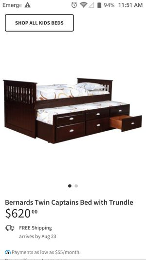 Twin sized bed, with extra pull out bed for Sale in Miami, OK