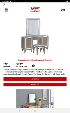 Coaster Leighton Metallic Vanity & Stool Set for Sale in Farmers Branch, TX