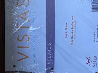 VISTAS learning VOLUME 3 LESSONS 12-18 for Sale in Vista,  CA
