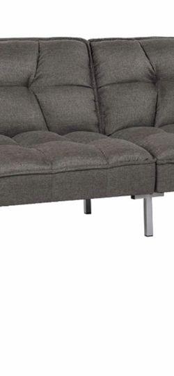 NEW gray Linen Futon- Folds Into Full Bed- for Sale in Lodi,  NJ