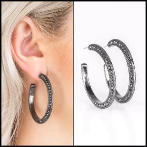 Black Hoop Earrings for Sale in Norfolk, VA