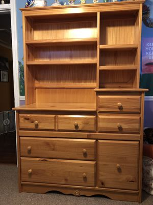 Nursery Furniture: Dresser & Hutch - Pine for Sale in Cayce, SC