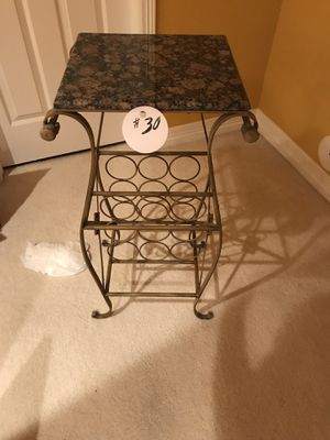Metal Bar Table Table w/ Built in Wine Rack and Granite Top for Sale in Littleton, CO