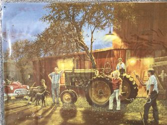 John Deere Farm Tractor Horseshoe Pitchin' Metal Wall Sign (New) for Sale in Nashville,  TN