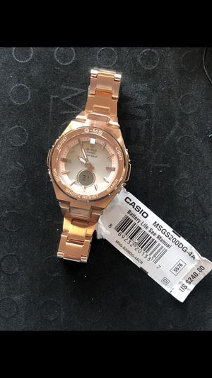 Casio GShock Women's RoseGold (MSGS200DG-4A) Retail $240(PICK UP ONLY) for Sale in Los Angeles, CA