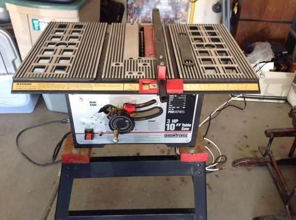 10 Inch 3hp Ohio Forge Table Saw For Sale In Peoria Az Offerup