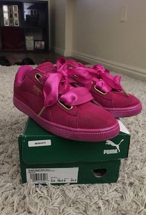 Pink suede pumas 8 in women's for Sale in Murray, UT