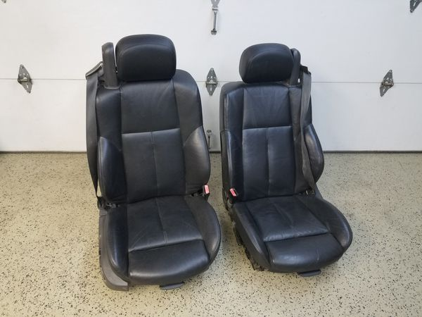2004 BMW 645ci black leather seats