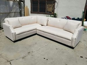NEW 7X9FT DOMINO PEARL FABRIC SECTIONAL COUCHES for Sale in Ontario, CA