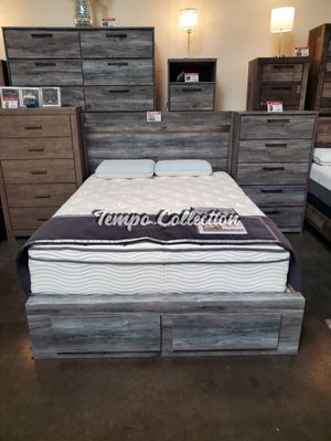 Queen Storage Bed Frame w?th 2 Drawers, Grey, SKU# ASHB221-QTC for Sale in Santa Fe Springs, CA