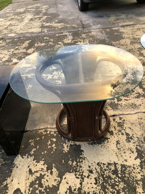 Pair of Bamboo glass end tables for Sale in Melbourne, FL