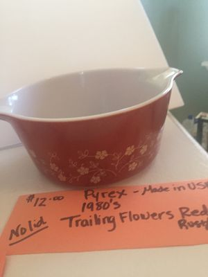 PYREX—Trailing Flowers Red for Sale in Burleson, TX